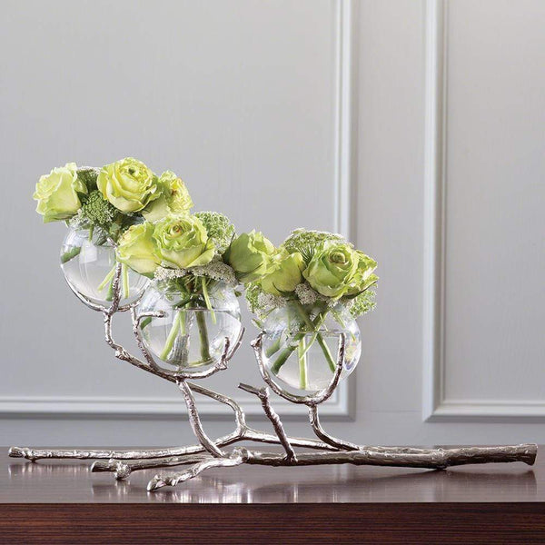 Global Views Twig 3 Vase Holder Nickel