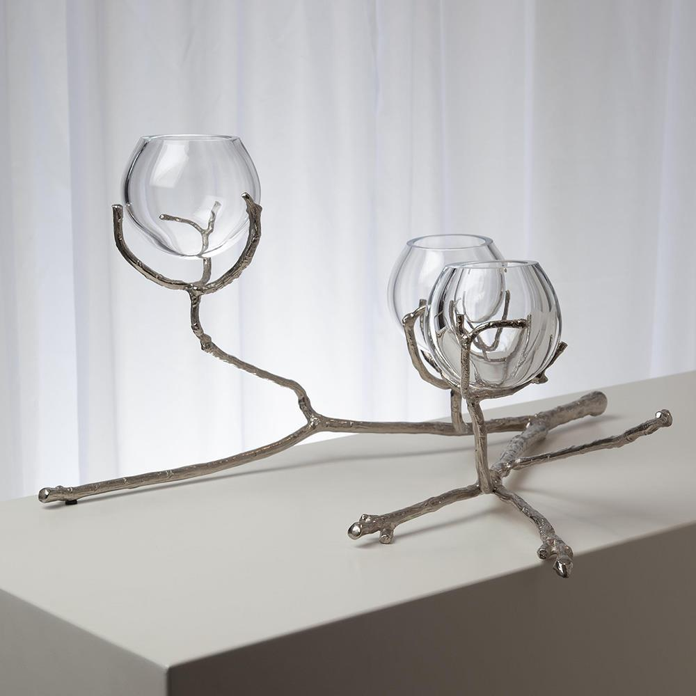 Global Views Global Views Twig 3 Vase Holder Nickel 9.92657