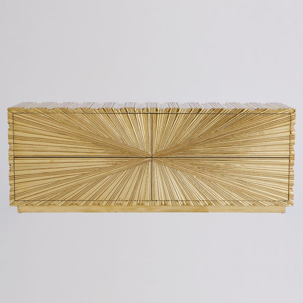 Global Views Linenfold Cabinet Brass
