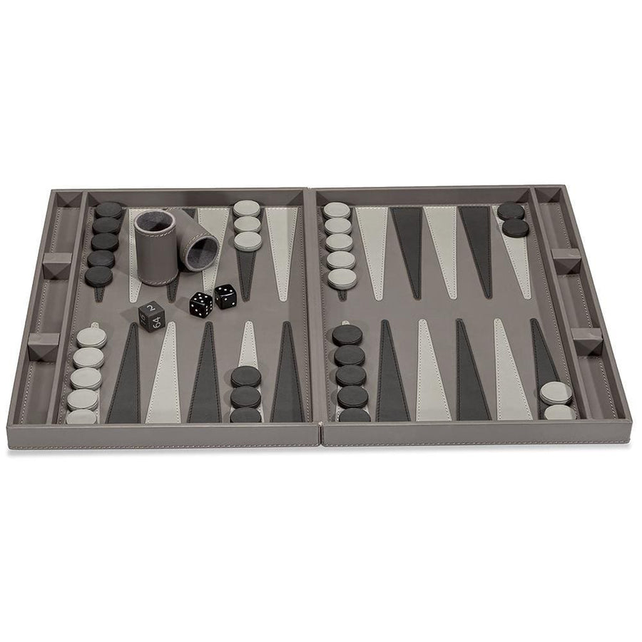 Interlude Home Corbin Cool Gray Backgammon Set 945027
