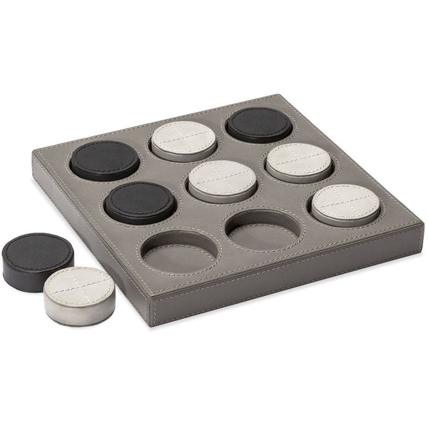 Interlude Home Knox Tic Tac Toe Set - Light Grey - Fossil - Charcoal