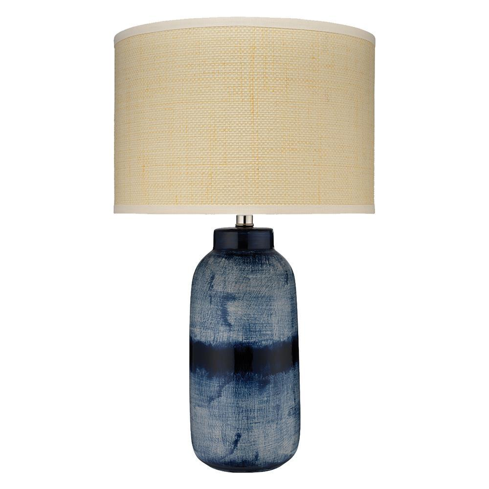 Jamie Young Jamie Young Large Batik Table Lamp in Indigo Ceramic 9BATIKLGTLIN