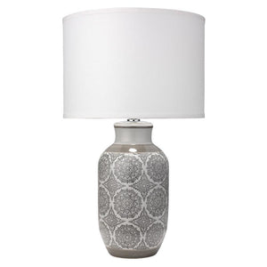 Jamie Young Beatrice Table Lamp in Gray Ceramic