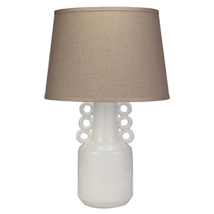 Jamie Young Circus Table Lamp in White Ceramic