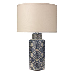 Jamie Young Delilah Table Lamp in Blue