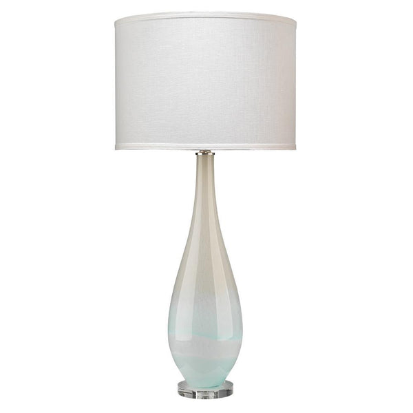 Jamie Young Dewdrop Table Lamp in Sky Blue Glass