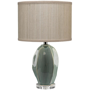 Jamie Young Hermosa Table Lamp in Teal Ceramic