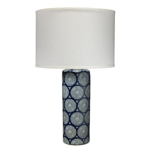 Jamie Young Neva Table Lamp in Blue and White Ceramic