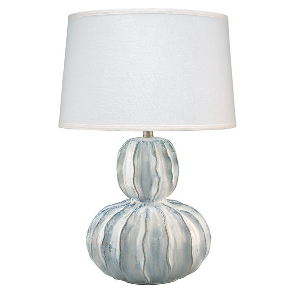 Jamie Young Oceane Gourd Table Lamp in White Ceramic
