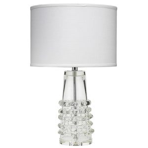 Jamie Young Tall Ribbon Table Lamp in Clear Glass