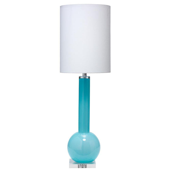 Jamie Young Studio Table Lamp in Powder Blue Glass