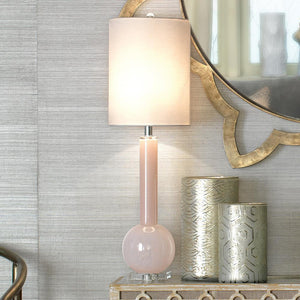Jamie Young Jamie Young Studio Table Lamp in Petal Pink Glass 9STUDPPD131T
