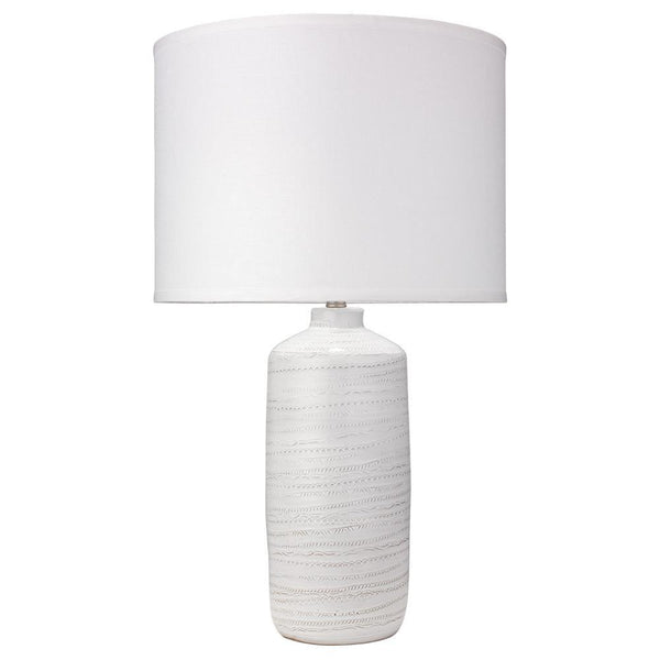 Jamie Young Trace Table Lamp in White Ceramic
