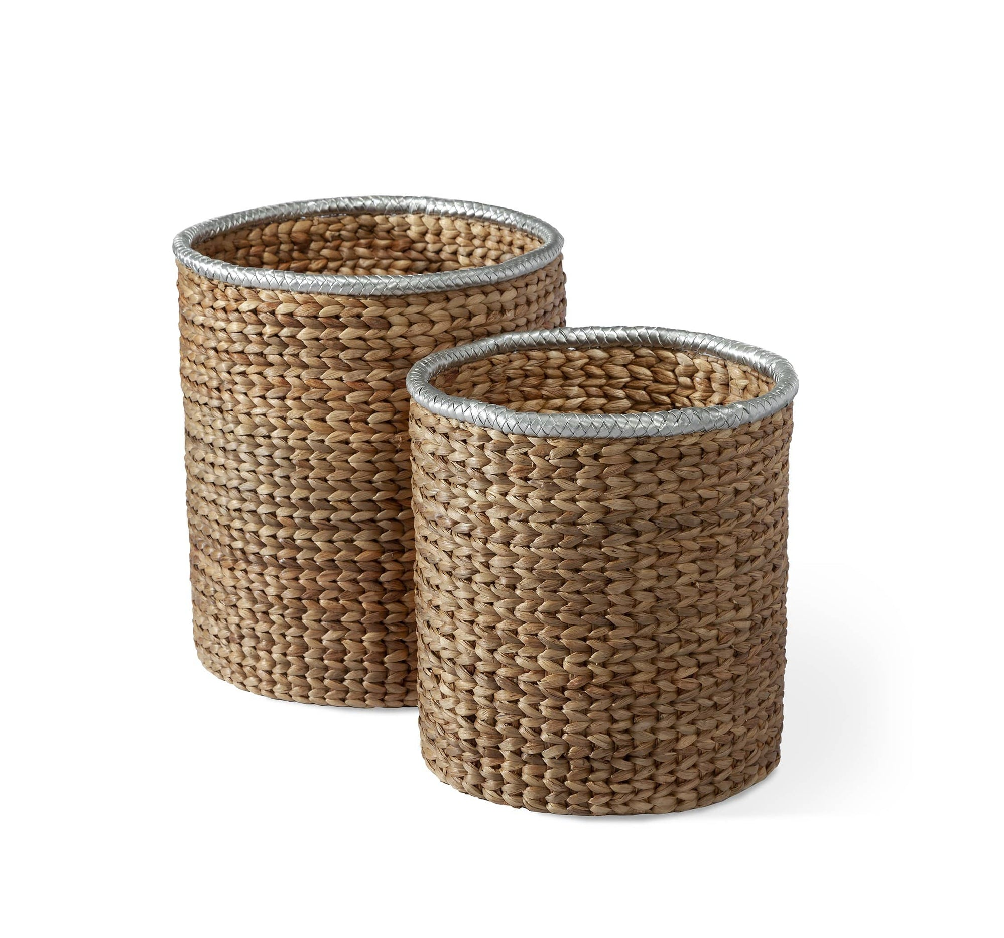 Interlude Home Interlude Home Falmouth Set of 2 Baskets - Natural & Silver 435020S2