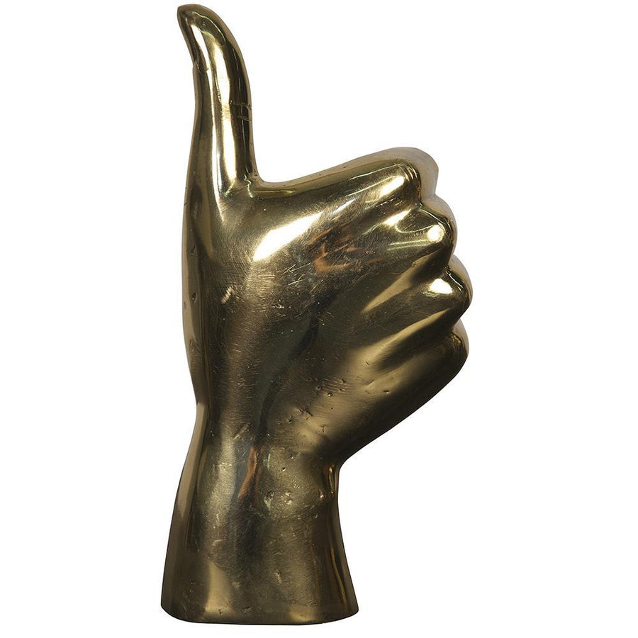 Noir Thumbs Up Brass Sculpture