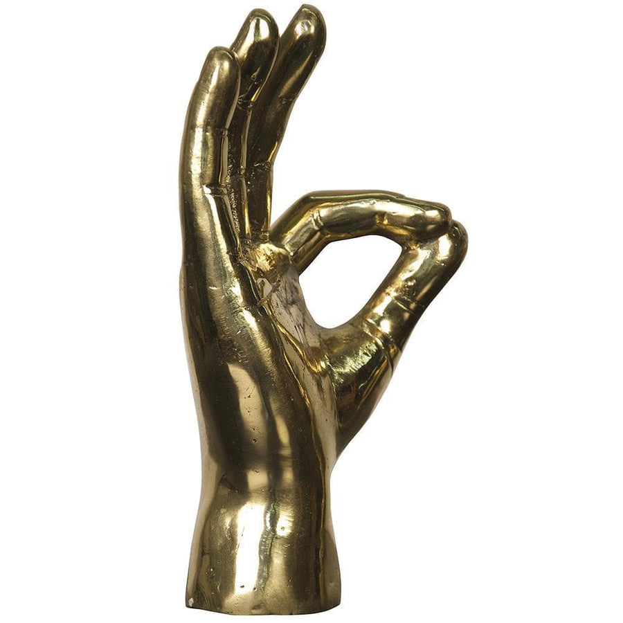 Noir Ok Sign Brass Sculpture