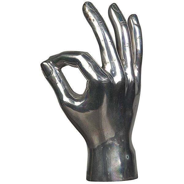 Noir Ok Sign Silver Sculpture