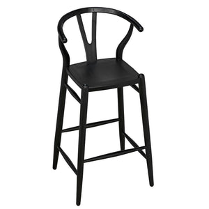 Noir Zola Black Bar Stool