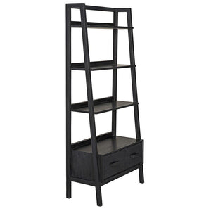 Noir Johnson Black Bookcase