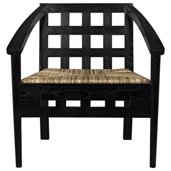 Noir Humboldt Charcoal Black Chair