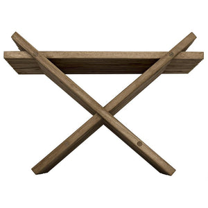 Noir Dede Teak Folding Stool