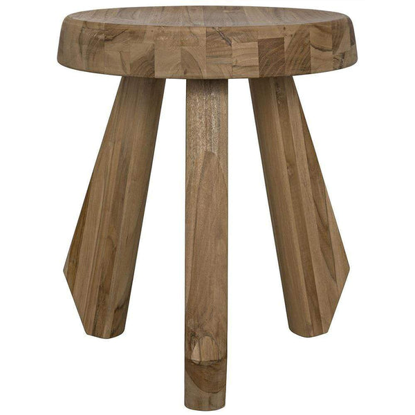 Noir Priam Teak Stool