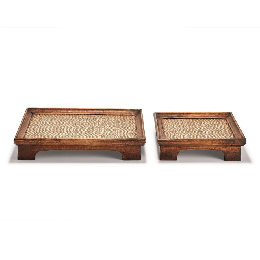 Tozai Home Set of 2 Teak Decorative Pedestal | Alchemy Fine Home