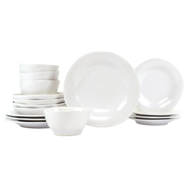 Vietri Aurora Snow Sixteen-Piece Place Setting | Alchemy Fine Home