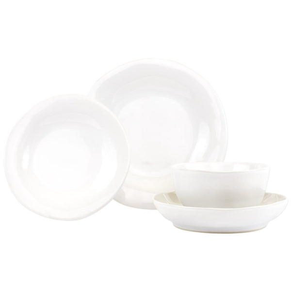 Vietri Vietri Aurora Snow Four-Piece Place Setting AOR-S1100S-4