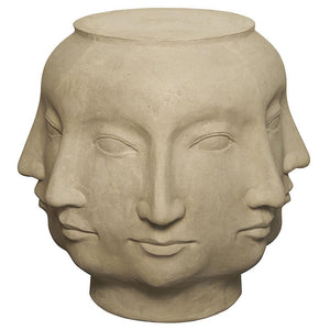 Noir Multi-face Ivory Stool