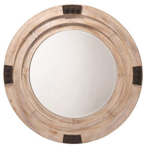 Jamie Young Foreman Mirror in whitewashed Wood