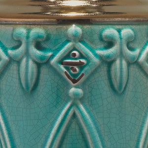 Jamie Young Tabitha Table Lamp in Turquoise Ceramic