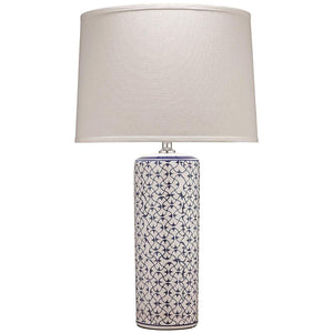 Jamie Young Vivian Table Lamp in Blue and White Ceramic