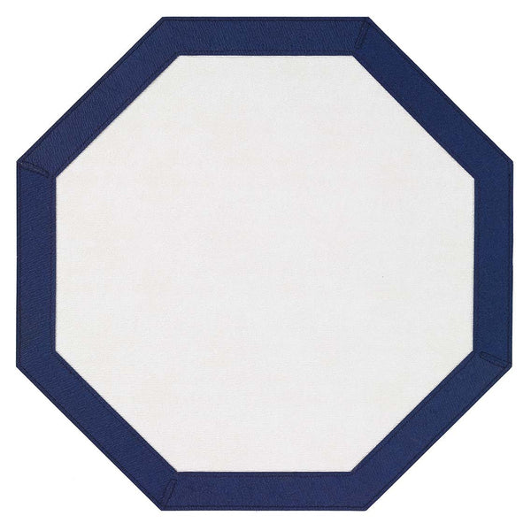 Bodrum Bodrum Bordino Placemat - Antique White & Navy - Set of 4 LBR8085HEX4