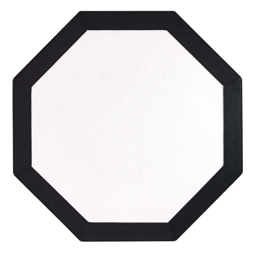 Bodrum Bodrum Bordino Placemat - White & Black - Set of 4 LBR0104HEX4