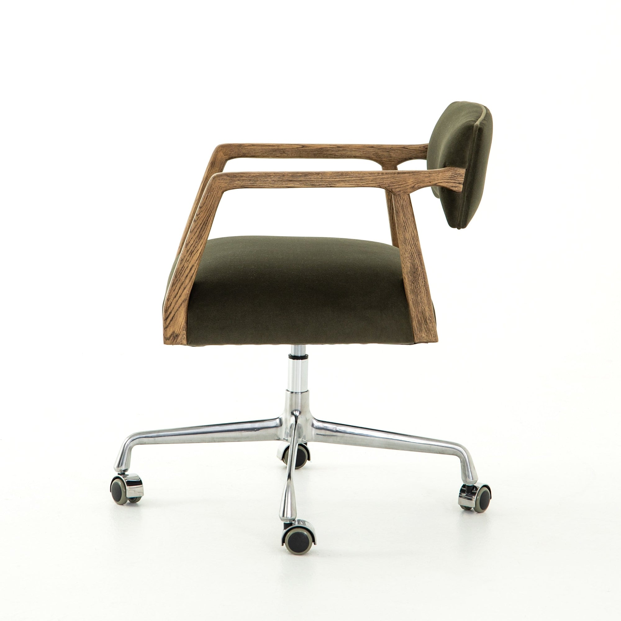 Four Hands Four Hands Tyler Desk Chair - Available in 4 Colors Modern Velvet Loden CABT-76-248