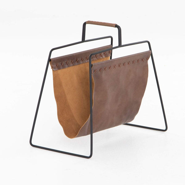 Four Hands Aesop Magazine Rack - Patina Brown | Alchemy Fine Home