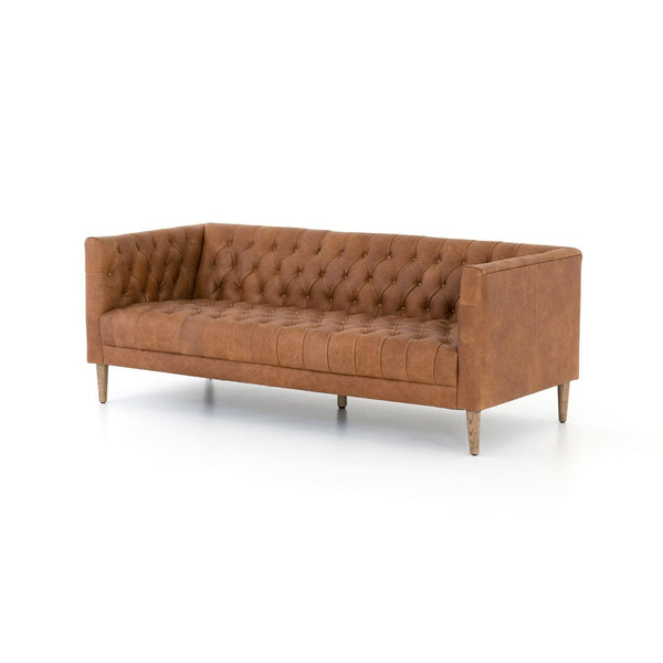 Four Hands Williams Leather Sofa - Natural Washed Camel | Alchemy Fine Home