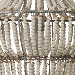 Jamie Young Blanca Chandelier in White Beads