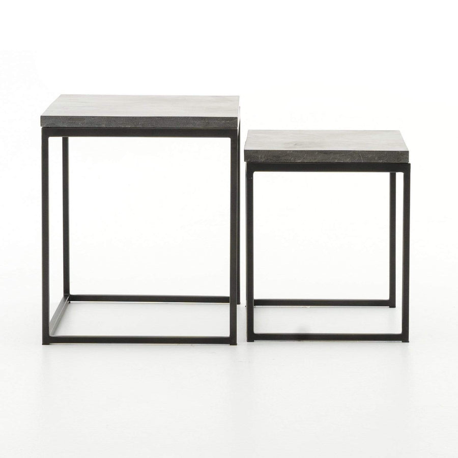 Four Hands Harlow Nesting End Tables - Bluestone | Alchemy Fine Home