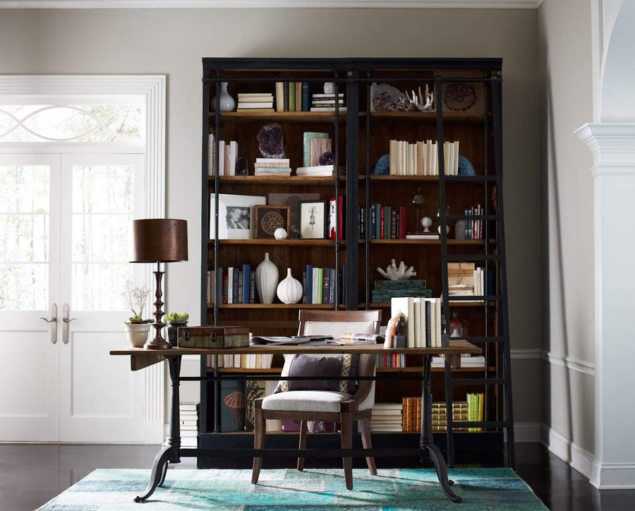 Four Hands Ivy Bookcase And Ladder - Matte Black | Alchemy Fine Home