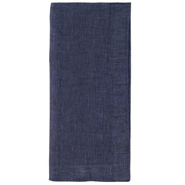 Bodrum Bodrum Chambray Napkin - Navy - Set of 4 CMB0710p