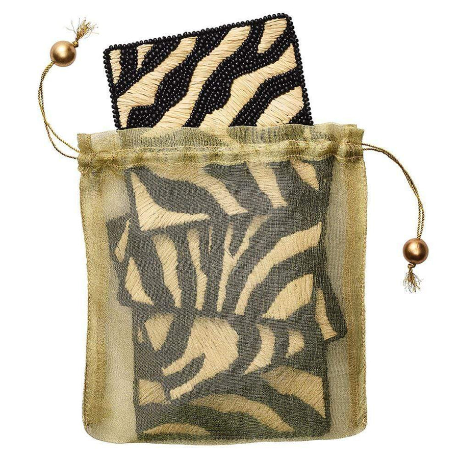 Serengeti Coaster in Natural & Black - Set of 4 by Kim Seybert | Alchemy Fine Home