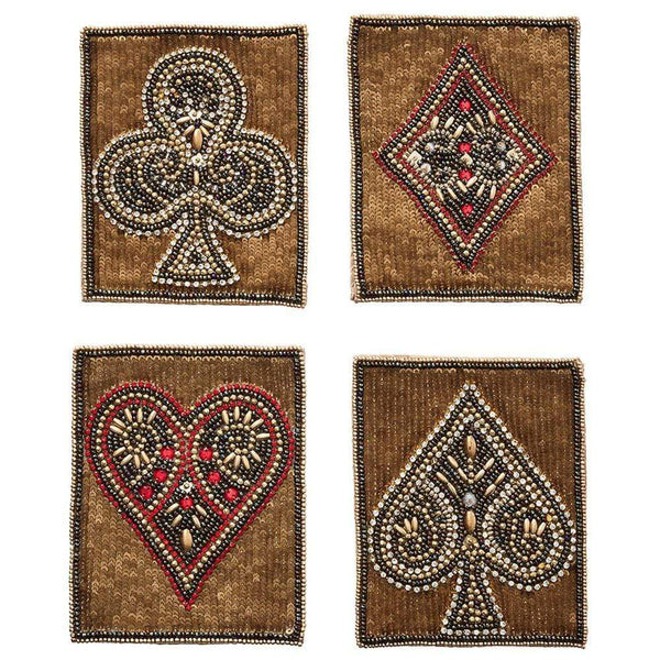 Kim Seybert Poker Coasters - Set of 4 CO2192024MT
