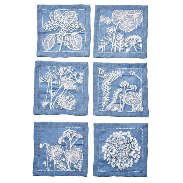 Sunprint Cocktail Napkin in Multi - Set of 6 by Kim Seybert | Alchemy Fine Home
