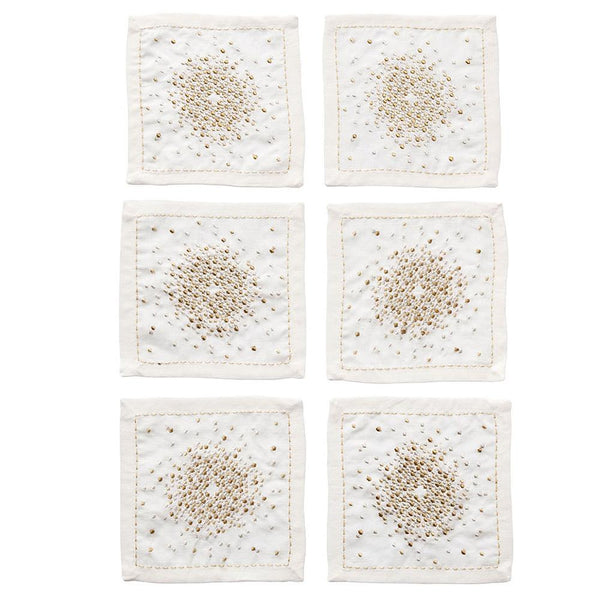 Kim Seybert Starburst Cocktail Napkins - Set Of 6