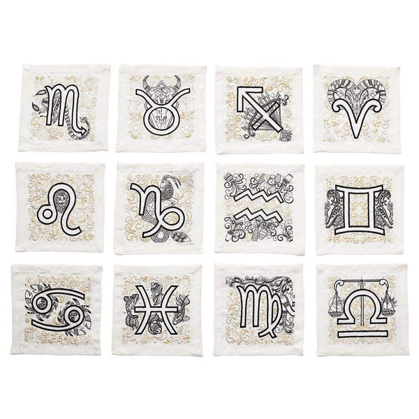 Kim Seybert Astro Cocktail Napkins - Set Of 12
