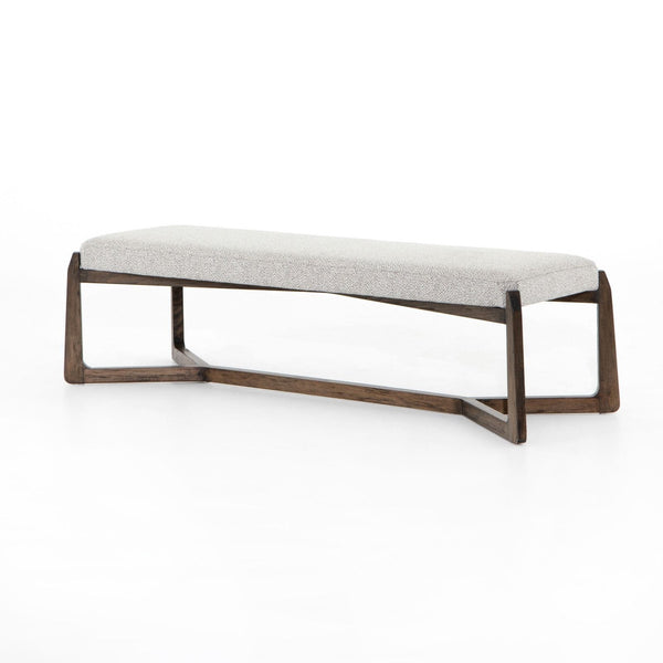 Four Hands Roscoe Bench - Brunswick Pebble | Alchemy Fine Home