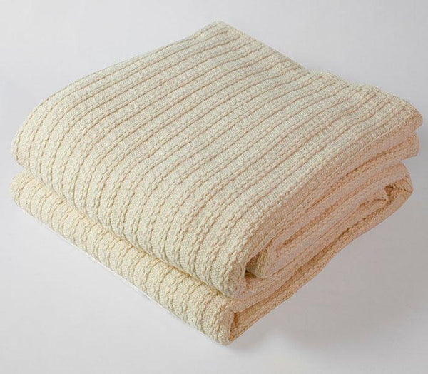 Cable Knit Natural Blanket - 3 Available Sizes