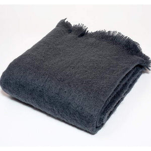 Harlow Henry Harlow Henry Luxe Mohair Throw - 6 Available Colors Charcoal HHVCT05